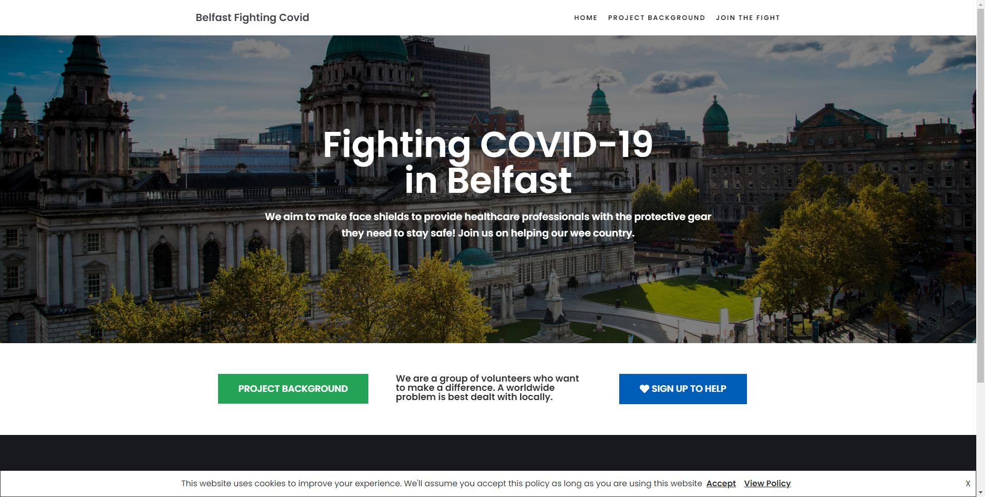 belfastfightingcovid.com Websites