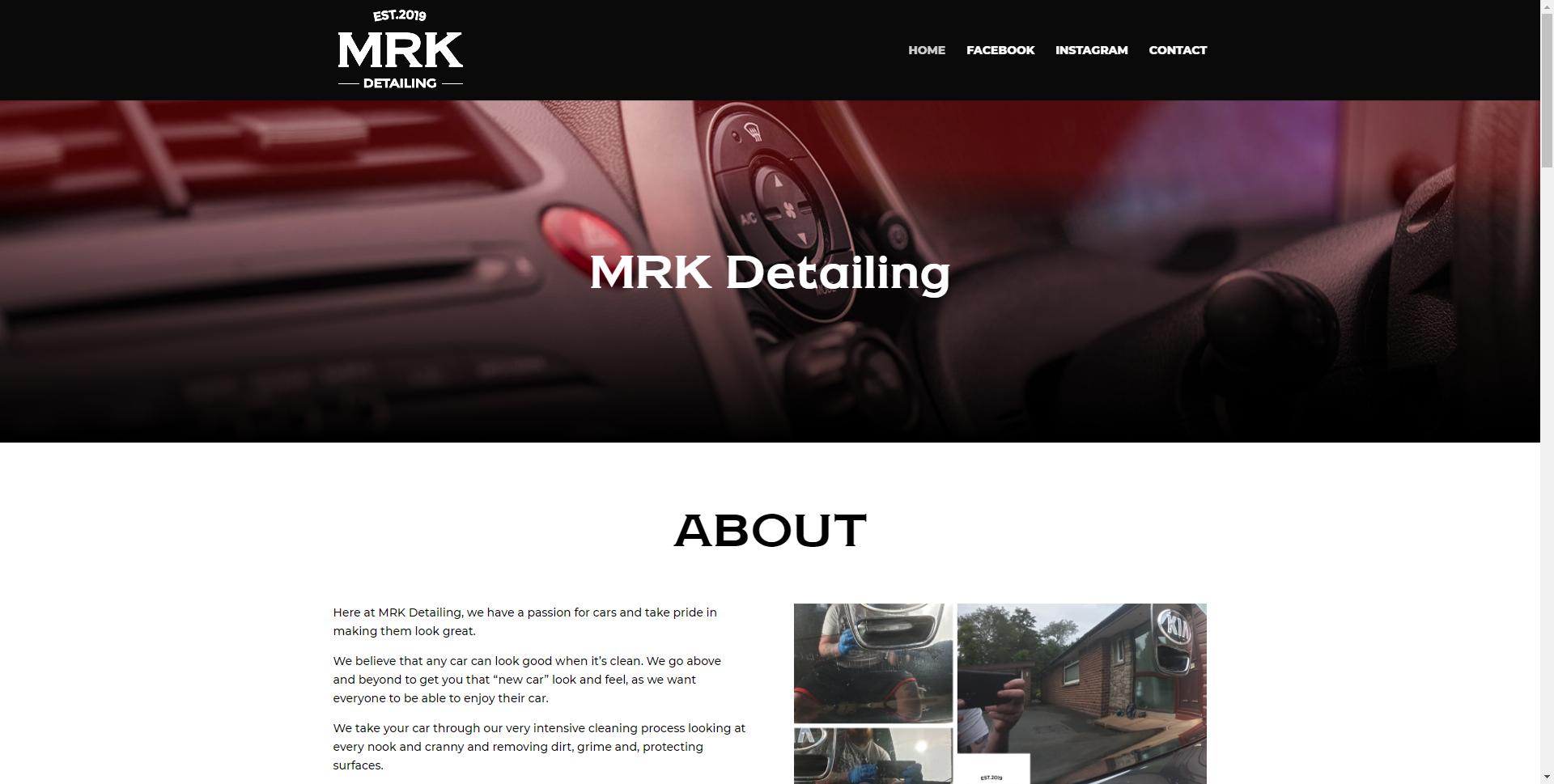 mrkdetailing.com 2 Websites